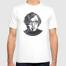Woody Allen White SMALL Mens Fitted Tee