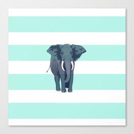 The Green Elephant Canvas Print