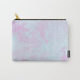 Elegant pink teal watercolor abstract marble Carry-All Pouch