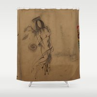 angels Shower Curtains featuring Angels by doctor iNk