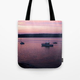 Dusk in the Harbour. Tote Bag