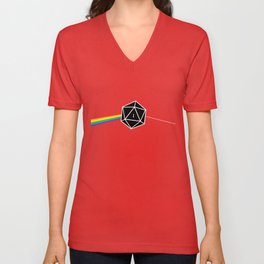 D20 Fail Dungeons and Dragons D&D Unisex V-Neck