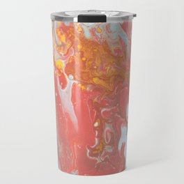 Watercolor Pastel Texture Pattern Marble Travel Mug