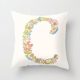 Alphabet C Throw Pillow