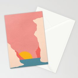 Sunset In Crete Stationery Cards