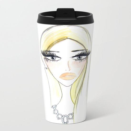 Glam Blondy Metal Travel Mug