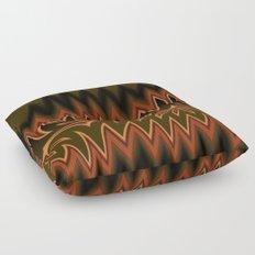 Fractal Tribal Art in Autumn Floor Pillow