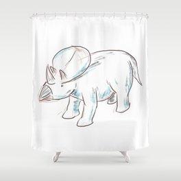Dinosaurs 3 - Brachyceratops Shower Curtain