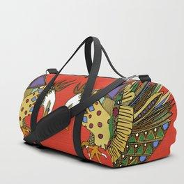 jewel eagle fire Duffle Bag