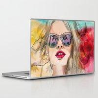 coachella Laptop & iPad Skins featuring Palm Springs by Sara Eshak