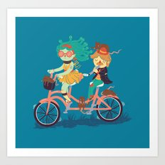 Medusa & The Pied Piper Art Print