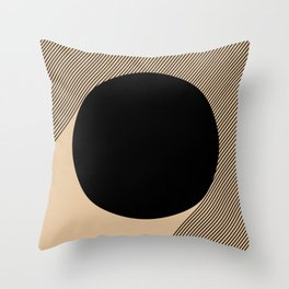 Black Circle Throw Pillow