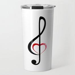 Heart music clef Travel Mug