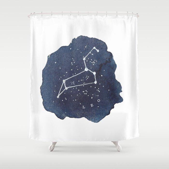 Leo Constellation Zodiac Shower Curtain