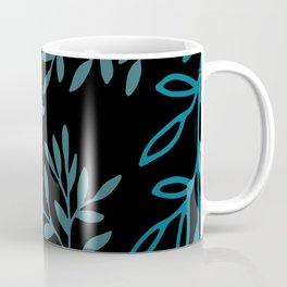 Leafy Teal Coffee Mug