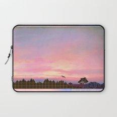 Rose Quartz and Serenity Landscape Laptop Sleeve