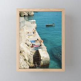 Summer is here | Amalfi coast travel photography print | Italy Framed Mini Art Print