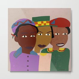 Three Friends by William H. Johnson Metal Print