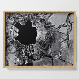 High Contrast Bullet Hole - Kill Your Television Abstract Serving Tray