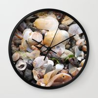 shells Wall Clocks featuring Shells by BACK to THE ROOTS