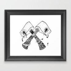 chop some wood Framed Art Print