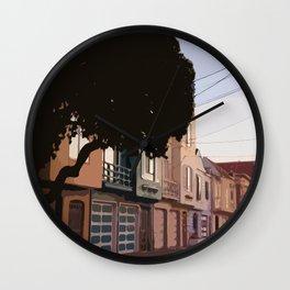 Sunset Houses, San Francisco  Wall Clock