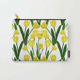 Tulip_Netherlands_Yellow Tulip drawing Carry-All Pouch