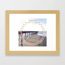 Victorian Pier - orange graphic Framed Art Print