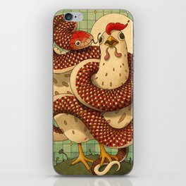Chicken and the Snake iPhone Skin