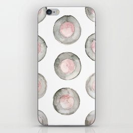 Watercolor circles iPhone Skin