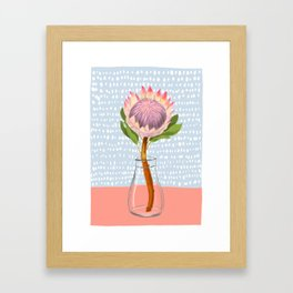 King Protea for Courage Framed Art Print