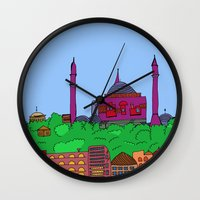 istanbul Wall Clocks featuring Istanbul by andy_panda_