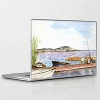 fishing Laptop & iPad Skins featuring Fishing by Vargamari