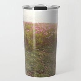 Atardecen las flores Travel Mug