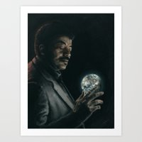 cosmos Art Prints featuring Cosmos by mycolour
