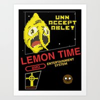 lemongrab Art Prints featuring NES Lemongrab by IF ONLY