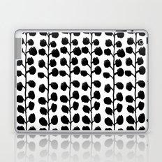 Black and white minimal modern petals leaves bloom spring summer monochromatic urban dorm decor Laptop & iPad Skin