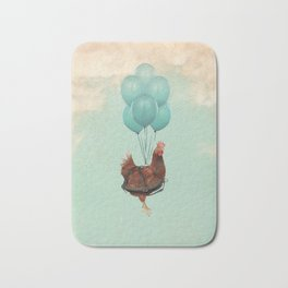 Chickens Can't Fly Bath Mat