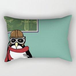 Little Penguin, Big Plans Rectangular Pillow