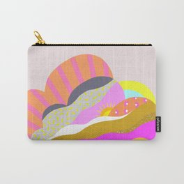 Bright pop art storm cloud graphic Carry-All Pouch
