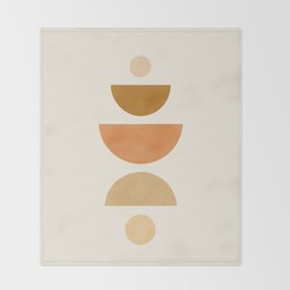 Abstraction_Geometric_Shape_Moon_Sun_Minimalism_001D Throw Blanket
