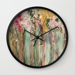 Woods in Spring Wall Clock