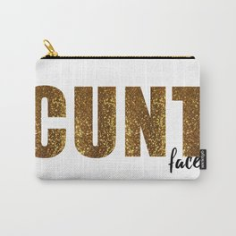 C*nt Face (Gold) Carry-All Pouch