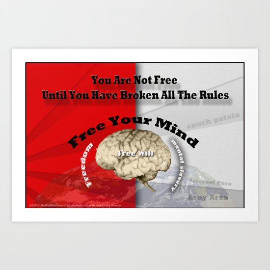 Free Your Mind Poster Art Print