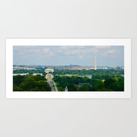 washington dc Art Prints featuring Washington DC by Beeobe