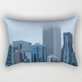 Misty Windy City Rectangular Pillow