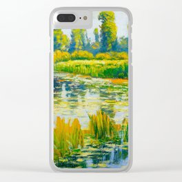 Václav Radimský (1867-1946) Water Lilies Impressionist Landscape Painting Bright Colors Oil Clear iPhone Case