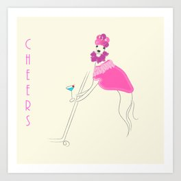 Cosmo Girl Italian Greyhound (Iggy) Art Print