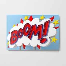 BOOM! Metal Print