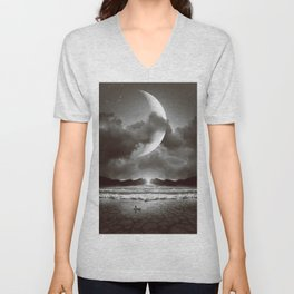 The Currents Will Shift Unisex V-Neck